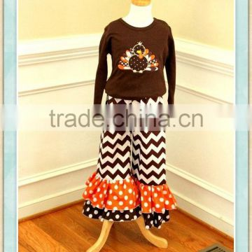 c13fa19d3fec Thanksgiving day turkey kids clothing girls boutique outfit turkey ...