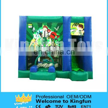 Popular inflatable Ben combo with slide for boys