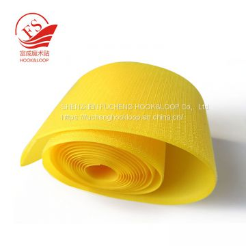 Polyester nylon fabrics sew on hook loop for garments and shoes