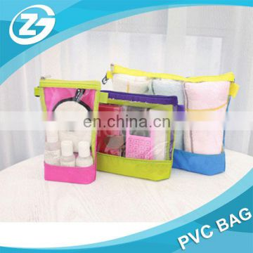 Multicolor Light High Quality Girl Woman Zipper Top PVC Cosmetic Bag
