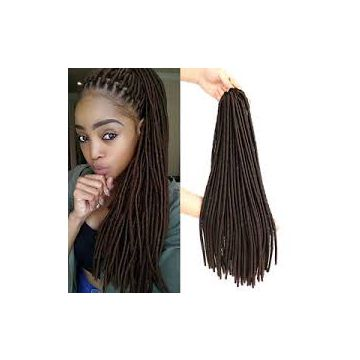 Reusable Wash 14inches-20inches Synthetic Hair Extensions Natural Wave Chocolate Straight Wave