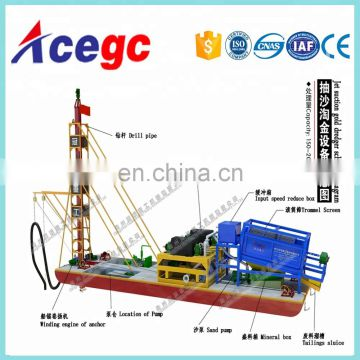 River drill type gold dredger gold dredge for sale