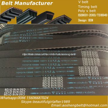 Nissan spare parts timing belt rubber transmission belt original quality  contitech gates optibelt  13028-01M00/102ZA19/13028-12G00/133ZA25/13028-24B10/