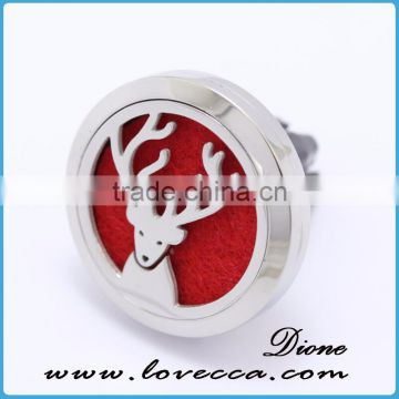 Best selling deer pattern aromatherapy locket pendant air diffuser car