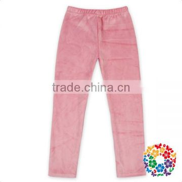 Best Price Baby Girls Pink Velvet Warm Pants Floral Leggings In Stock