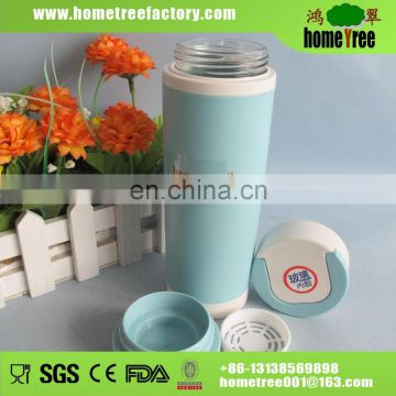 High Quality Thermal Double Wall Glass Tea Infuse Stainer Tumbler With Lid For Gift
