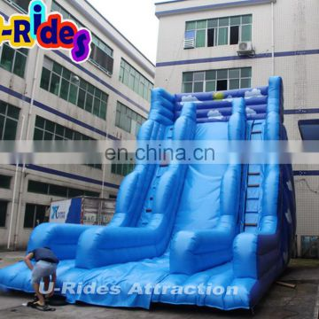 sky blue super high Inflatable slide for pool