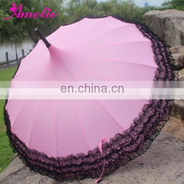 A0433 Outdoor Lace Edge Pagoda Umbrella