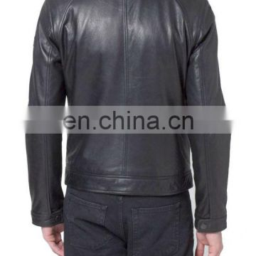 Leather jacket made of soft, finely graine leather