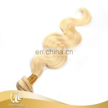 Factory direct sale blonde double drawn remy hair extension russian hair body wave vendors