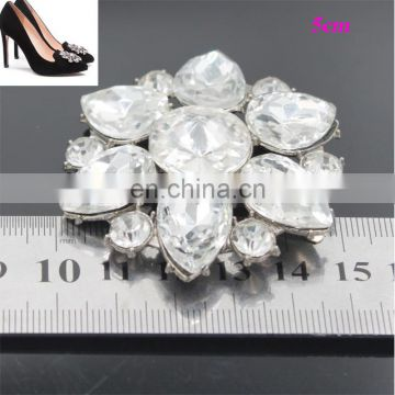 2017 Wholesale rhinestone shoe Clip On High Heels Shoes Decoration Ladies Footwear accessories