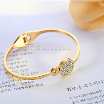 Gold Rose Gold Silver PVD Plating Mens Womens Stainless Steel Bracelet Bangles