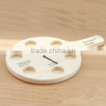 Wooden Beer Tasting Tray Holder Wooden Tray Cup Holder Wooden Shot Glass Tray For Bar
