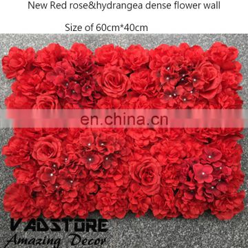 High quality wedding flower wall 2017 stage backdrop decorative factory wholsale artificial flower wedding arrangement