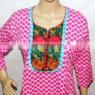 Indian Handmade Summer Tunic Top Print Long Kurti