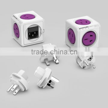Classic Natural Australia Power cube Wall Cube Receptacle Plug Portable Home Cable Office USB Power Travel Gift New with 2 USB