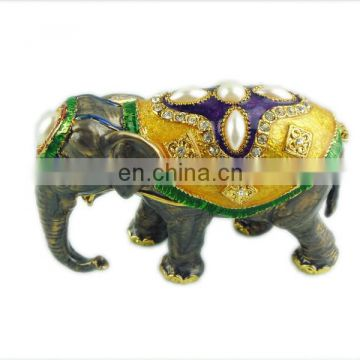 Crystal Elephant Shaped Trinket Jewlery Box Christmas Gifts for Women