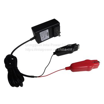 AC DC wall mount type Li-ion battery charger 12.6V 2A electric toy charger