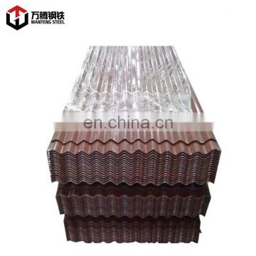 Color corrugated galvanized zinc roof sheets PPGI sheet type 800/900 used for house