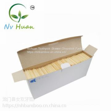 Disposable bamboo toothpicks in bulk, one tip/ double tips