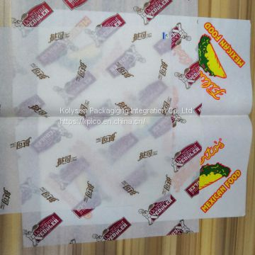 custom printed greaseproof paper wholesale in china
