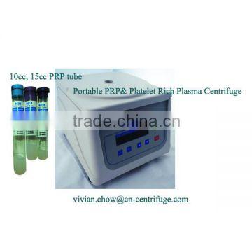 Portable PRP blood plasma or platelet rich plasma centrifuge