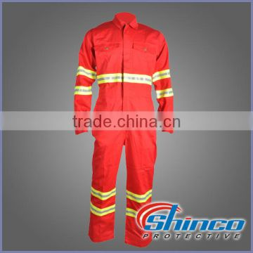 Cotton/nylon ppe hi vis flame retardant safety ultima coverall workwear