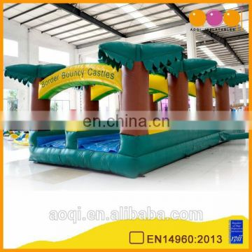 AOQI products with free EN14960 certificate double inflatable water slideway