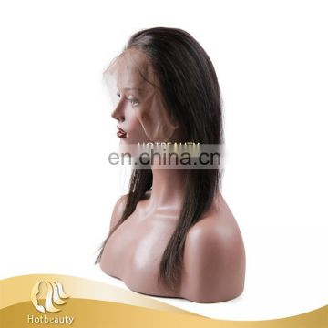 2017 New Arrival full and high density Brazilian Hair Kinky Straight 360 lace wig