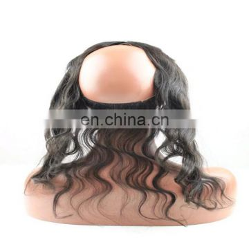 Factory new hair products 360 lace frontal band remy virgin brazilian human hair overnight shipping