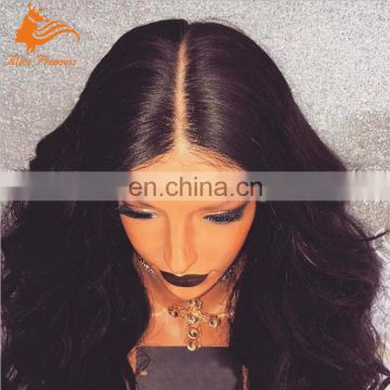 Pure Manual High Quality Long Smooth Natural Hairline Virgin Human Hair 180 Density Full Lace Wig