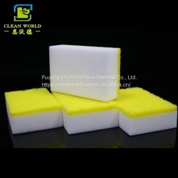 Melamine durable sponge with scouring pads for kitchen cleaning