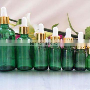 High Quality Amber/ Cobalt Blue/ Green Glass Dropper Bottles for Essential Oils