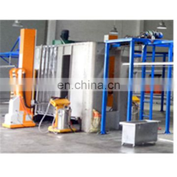 Automatic powder coating booth for aluminium profiles 4
