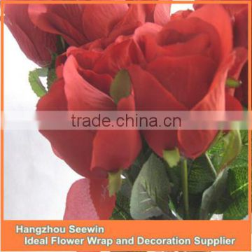Hot sale High quality artificial rose flower&fake rose flower&single rose flower