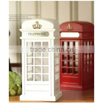 plastic telephone booth coin box,telephone money bank,PVC coin bank