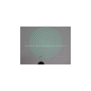 FU52010YH100-GD16 DOE green 10 rings circle rounded circular circularity Concentric rings laser,Concentr