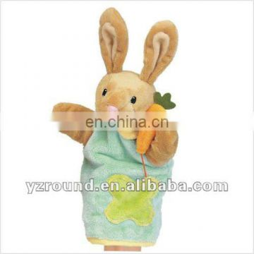 stuffed animal pattern bunny hand puppet glove doll toy gift