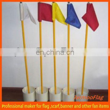 cheap plastic tube golf flag
