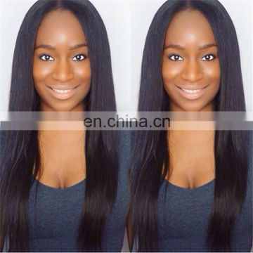 straight full silk cap lace wig natural straight silk base wig indian human hair wigs for black women