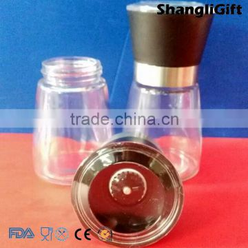 wholesale 180ml 6oz glass pepper spice jars with grinder caps                                                                         Quality Choice