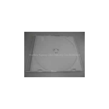 5.2mm SLIM square jewel CD case jewel cd  box jewel cd cover slim  with colour  tray