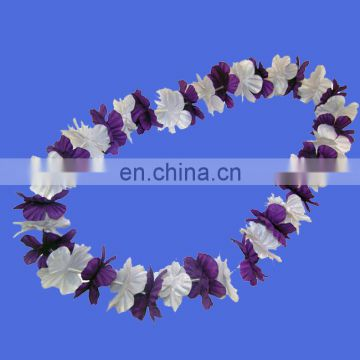 Factory direct sell Hawaiian Beach Luau Party Flower Lei Leis Necklace