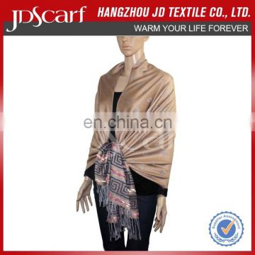 Factory directly pashmina shawl in tassel shawl for women