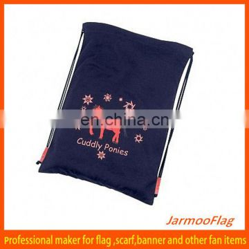 wholesale recyclable calico drawstring bag