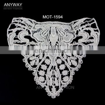 Factory price lace motifs fashion collar lace motifs wholesale embroid lace collar