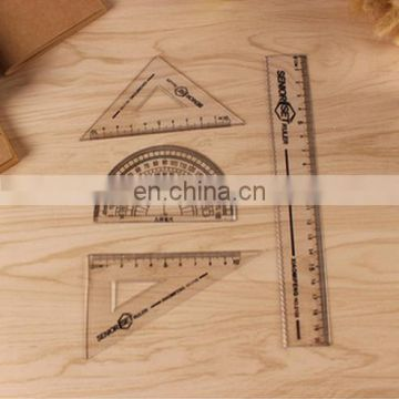 Clear Plastic Ruler Geometry Set
