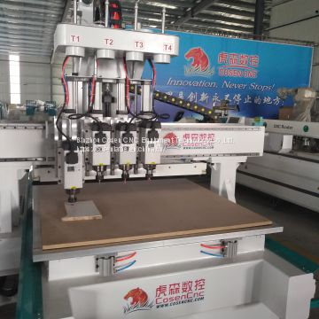 four heads cnc wood router machine for furniture factory