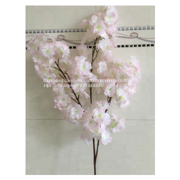 china supplier the newest artificial cherry flower branch with flower for landscaping