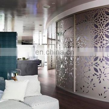 laser cut room divider stainless aluminum screen
